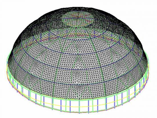Canobbio Membrane Dome Roof Structure