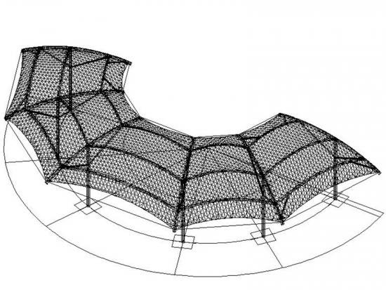 Architectural Tensile Fabric Pavilion Structure