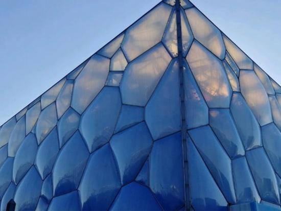 Translucent lightweight ETFE cushion