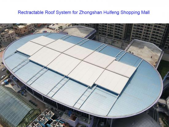 High quality PTFE Retractable Roof